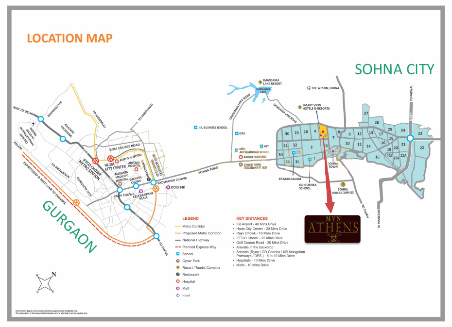 MVN Athens sohna location Map